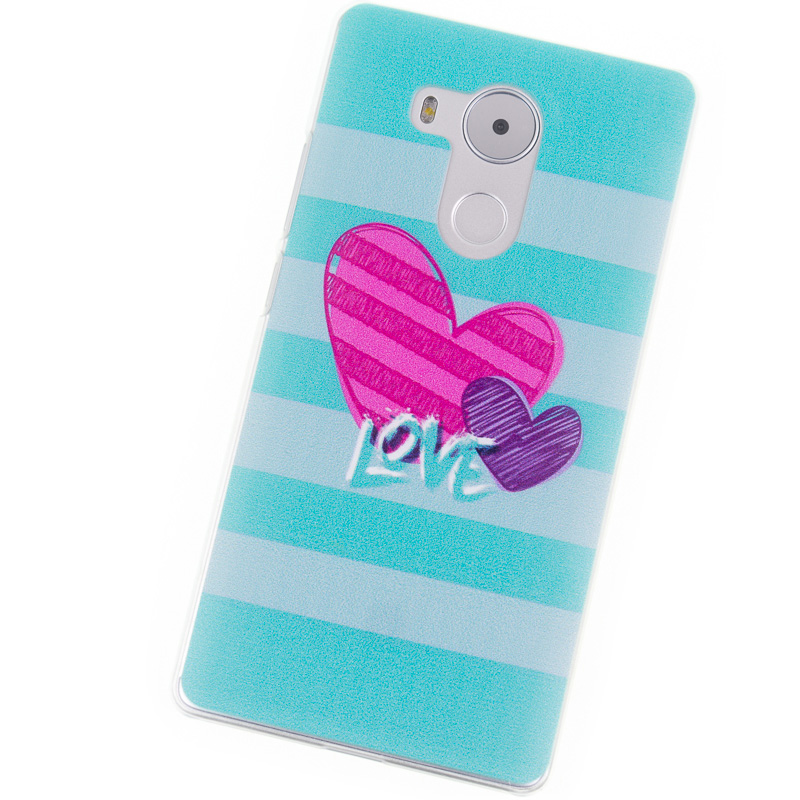 Phone Cases for Huawei Mate 8 case Mate8 blue heart Transparent hard cellphone protector for mobile phone bags & cases Brand new