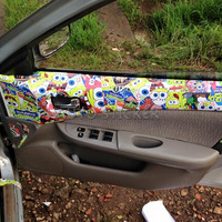 Cute Cartoon Stickerbomb Vinyl Wrap Film With Air Bubble Free For Vehicle Graphic Sticker Bomb Sheets Bombing Film