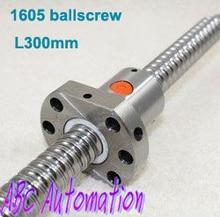 Envío Gratis 1 Unidades = 1 unids L-300mm SFU1605-L300mm ballscrew 1 unids SFU1605 ballnut para CNC XYZ