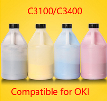 Free Shipping Compatible for OKI C3100 C3400 Chemical Color Toner Powder Refill toner cartridge  printer color powder 4KG
