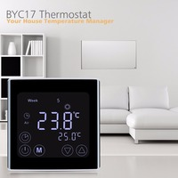 Digital LCD Touch Screen Room Temperature Controller Thermostat White Backlight Weekly Programmable Underfloor Heating Thermost