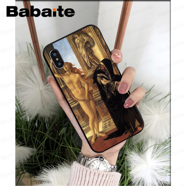 Babaite Art Paintings The Birth Of Venus High Quality Phone Case for iPhone 7 8 X XS MAX  6 6s 7plus 8Plus 5 5S SE XR