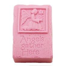 Ангел собрать здесь квадратное мыло силиконовая форма для ручной