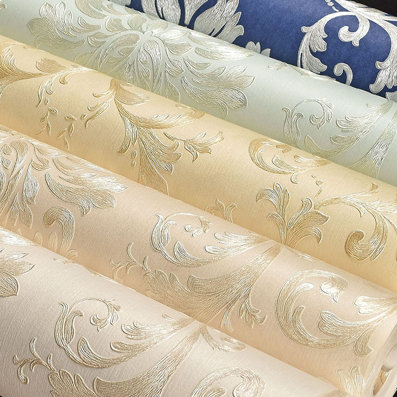 Luxury 3D Wallpaper for Walls European Style Damascus Floral Wall Paper Roll Non-woven Wallpaper Flowers for Bedroom Background 2015 new brand 5m roll victorian country style for floral flowers background wallpaper