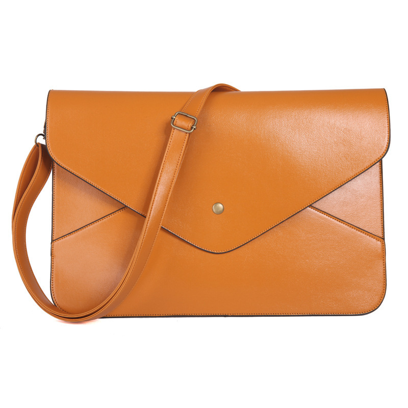 New korean style women cover envelope clutch wristlets fashion casual solid color should ...