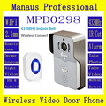 HD WIFI Video Intercom Doorbell Full Duplex Voice 720P PIR Outdoor IP Camera 433MHz Indoor Bell Wireless Video Door Phone D298A