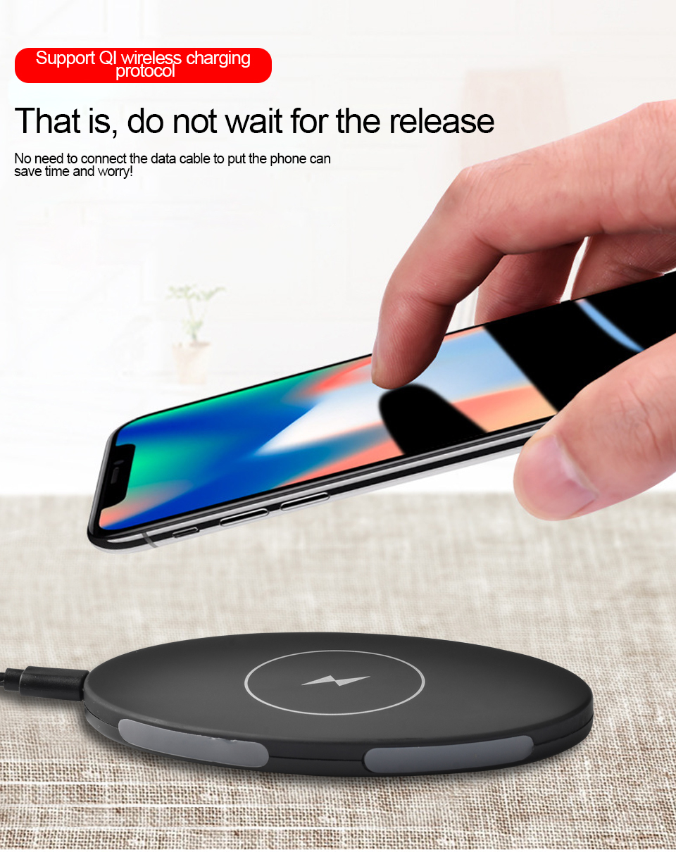 YILIZOMANA QI Wireless Charger Pad For iPhone X 8 8 Plus Samsung Galaxy S8 S9 Note 8 5V 1A Wireless Phone Charger in Mobile Phone Chargers from Cellphones Telecommunications