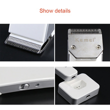 Rechargeable Electric Hair Clipper Waterproof Trimmer Grooming Beard Razor Adjustable Clipping Comb WH998