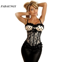 Dot Slimming Corset Lace Up Sexy Lingerie Plus Size Gothic Clothing Overbust Corsets And Bustiers Women