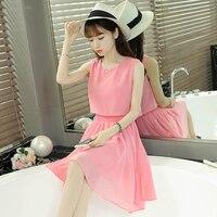 New Summer Fashion Women Dress Socialite Small Clear Korea Plastic Feeling Dresses Pink Light Grey 518