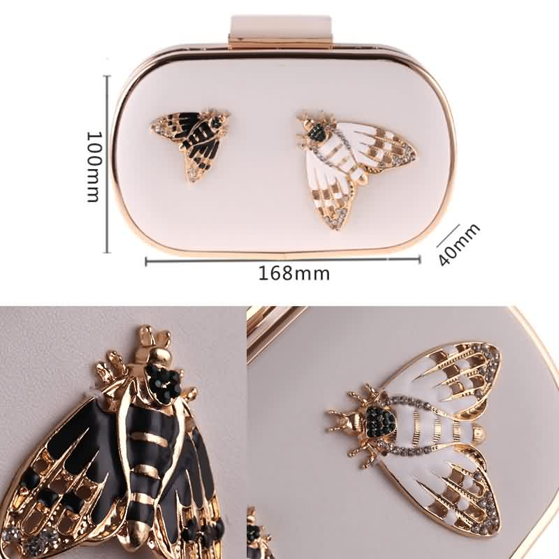 Diamond Pearls Beaded Insect Clutch Bag 5