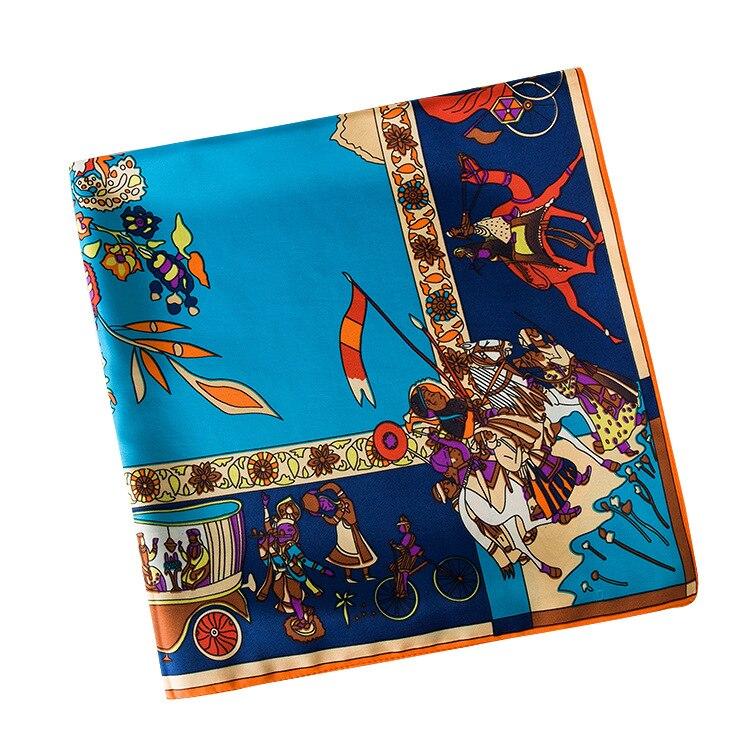 POBING 100% Foulard en soie Femmes Grandes Châles Étoles Vie Arbre Imprimer  Foulards Carrés Echarpes Foulards Femme Wrap Bandana 130 130 cm dans  Foulards de ... a4ee87b6440