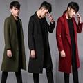 2017 Europeu e Americano big Metrosexual homens casaco de inverno casacos longos marca de moda Paris pista