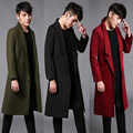 2017 big European and American Metrosexual winter coat men long coats fashion brand Paris runway