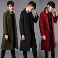 2017 grandes Metrosexual hombres abrigo de invierno abrigos largos de Europa y América marca de moda Paris runway