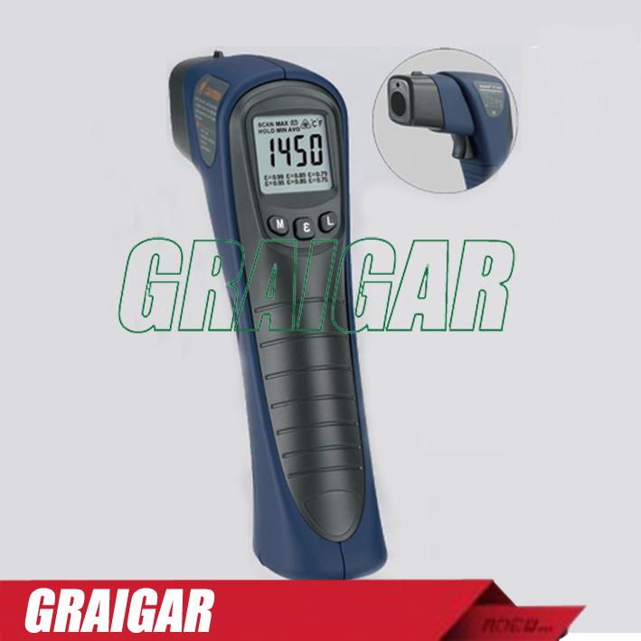 Noncontact Infrared Thermometer ST1450,Noncontact measuring. Inside laser aimer. White backlight LCD.