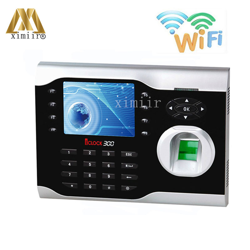 WIFI Fingerprint And RFID Card Time Attendance Time Clock System ZK Iclock300 WIFI Linux System Time Recorder
