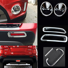Embellecedor de cubierta de embellecedor para faro delantero/antiniebla trasero/luz trasera de frenos, ABS cromado para Suzuki Vitara Escudo