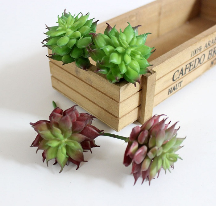 Artificial succulent plant Flower small for Birthday Wedding Party home Decoration craft DIY favor baby shower etc Wh
