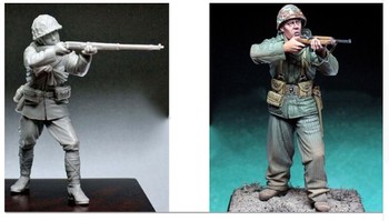 1 35 skala WW2 wojny na pacyfiku US Army i japoński Shooter 2 ludzie miniatury ii wojny światowej żywicy zestaw modeli do składania rysunek darmowa wysyłka tanie i dobre opinie Z żywicy Film i telewizja 1 35 us 8 lat miniatures Unisex FPJ TOYS resin model resin kit resin soldier figure