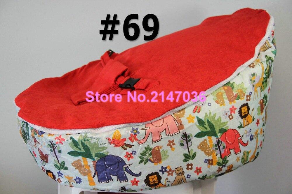 Safari animal elephant printed wholesale printed baby bean bag chair -  various tops cover kids beanbag toddlers sofa seat - Elephant Bean Bags Promotion-Shop For Promotional Elephant Bean