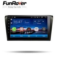 Funrover 9 android 8,0 штатную dvd Радио для Mazda 3 Mazda3 2004 2009 магнитофон Автомобильная dvd навигационная система стерео проигрыватель