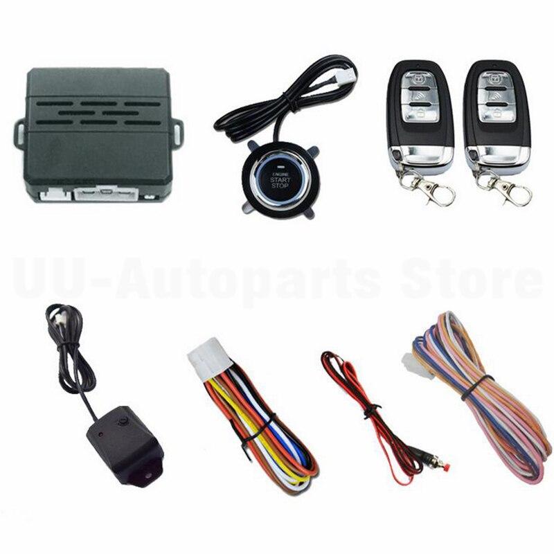 D7 Car Alarm System Security Vibration Ignition Engine Start Push Button Remote