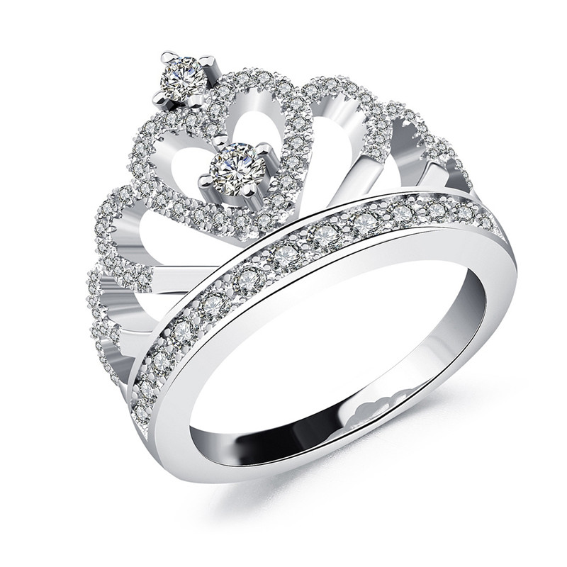 2018 Princess Style Romantic Hollow Heart Silver Color