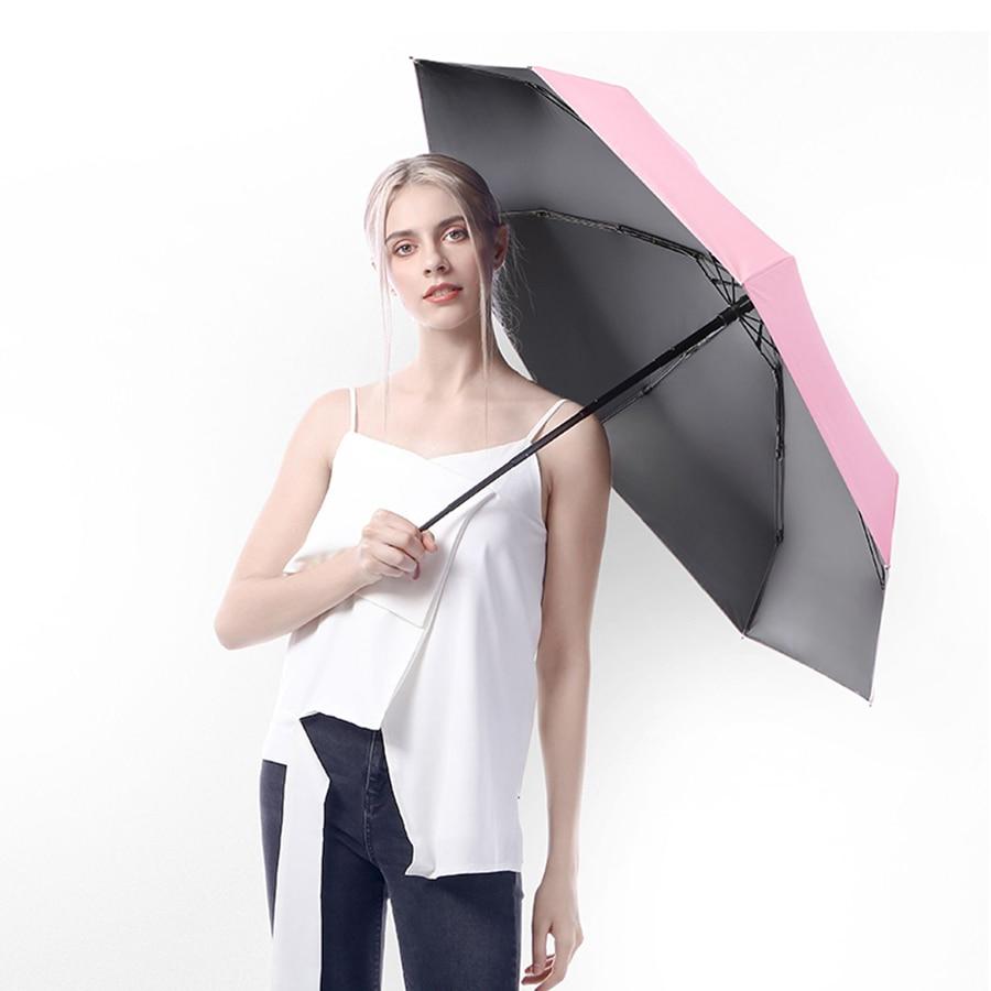 Automatic Folding Umbrella Bag Rain Flower Decoration Black Kids Girl Women Rainbow Children Wedding Windproof Flash 50YS0024