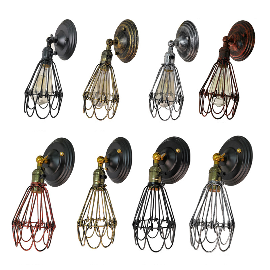 loft retro Knob switch wall lamp bra bedroom bedside aisle stair corridor balcony cafe pub restaurant wall light bra wall sconce