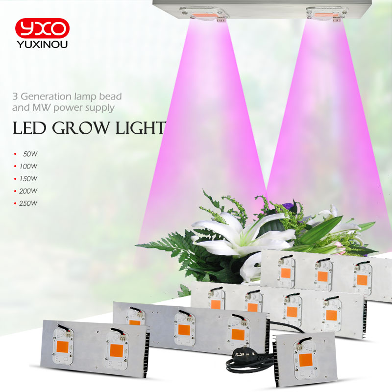 COB DOB Led Grow Light Full Spectrum 50W 100W 200W 300W for Vegetable Flower Indoor Hydroponic Greenhouse Plant Lamp все цены