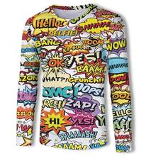 2019 New Fashion Long Sleeve Mens 3D Camouflage Graffiti Printed t shirts Homme Tees Tops High Quality wholesale fashion Tshirt