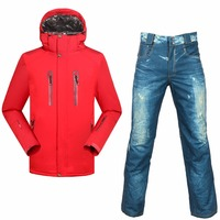SAENSHING Snowboarding suits men Winter ski suit Waterproof 10000 Super Warm snow ski jacket snowboard pant outdoor skiing sets