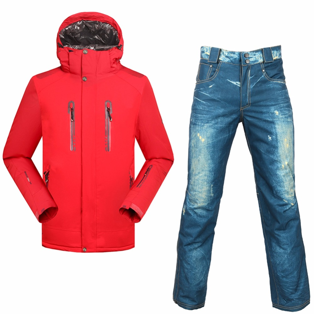 цена SAENSHING Snowboarding suits men Winter ski suit Waterproof 10000 Super Warm snow ski jacket snowboard pant outdoor skiing sets