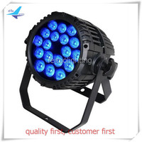 free shipping 12pcs/lot Super Bright LED 18X18W RGBWA UV Outdoor LED Par Can Light Stage Equipment Lighting IP65 DJ Show Uplight
