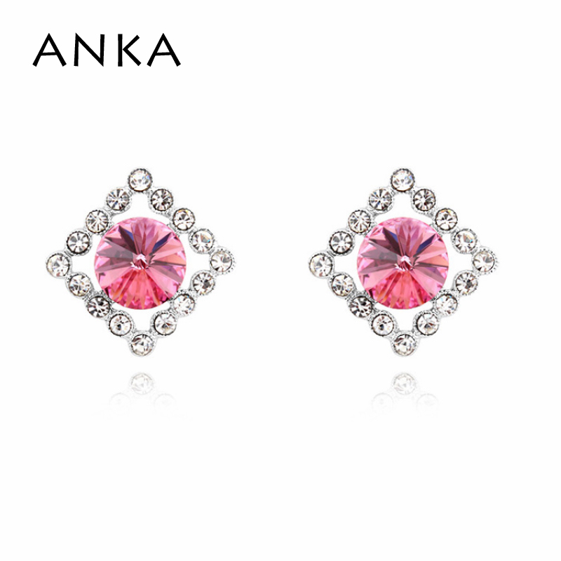 2018 Special Offer Trendy Women Zinc Alloy Spike New Crystal Earrings Crystals from Austria #105316