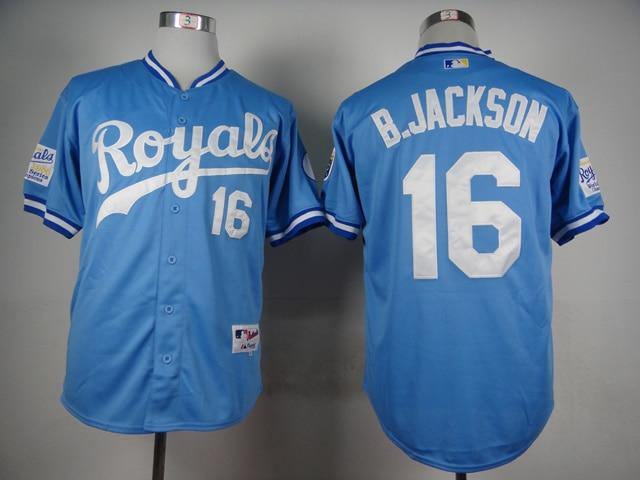 new style 7e7f7 e1556 bo jackson baby blue royals jersey