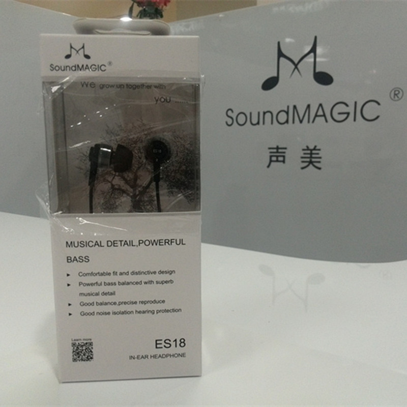 SoundMAGIC ES18 in ear earphones hifi earbuds earphone earbud strong bass sound original senfer dt2 ie800 dynamic with 2ba hybrid drive in ear earphone ceramic hifi earphone earbuds with mmcx interface