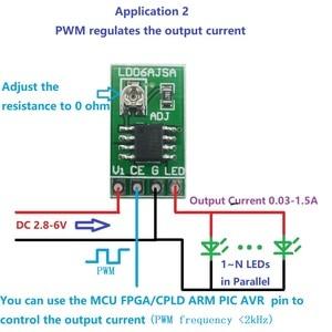 DC 3.3V 3.7V 5V LED Driver 30-1500MA Constant Current Adjustable Module PWM Control Board for USB LED flashlight 18650 Li-ion