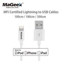 MaGeek 1 м 1,8 м 3 м кабели для мобильных телефонов Сертифицированный MFi кабель Lightning-USB для iPhone Xs Max X 8 7 6 5 iPad Air iOS 12 11