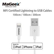 MaGeek Cables de teléfono móvil con certificado MFi, 1m, 1,8 m, 3m, USB, para iPhone 12, 11, Xs, Max, X, 8, 7, 6, 5, iPad Air, iOS, 12, 11