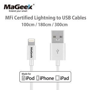 Image 1 - Mageek 1メートル1.8メートル3メートルmfi認定usb携帯電話iphone 5 12 11 xs max x 8 7 6 5 ipad空気ios 12 11