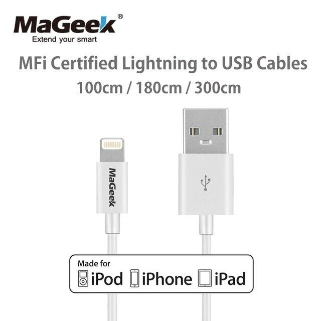 Mageek 1メートル1.8メートル3メートルmfi認定usb携帯電話iphone 5 12 11 xs max x 8 7 6 5 ipad空気ios 12 11