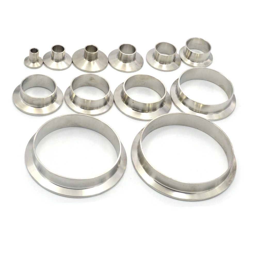 19mm 38mm 51mm Sanitary Pipe Weld Welding  Ferrule Tri Clamp Type 304 Stainless Steel Flange Connection