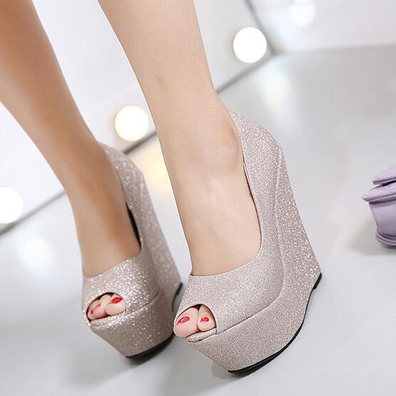 ... rhinestone bridal low heel wedding shoes sandals · glitter shoes  platform shoes high heels gold silver wedding shoes p toe high heels pumps  platform ... 6a29fad1c0fc