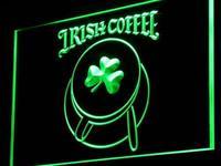 I949ถ้วยกาแฟไอริชร้านแชมร็อกตกแต่งแสงนีออน