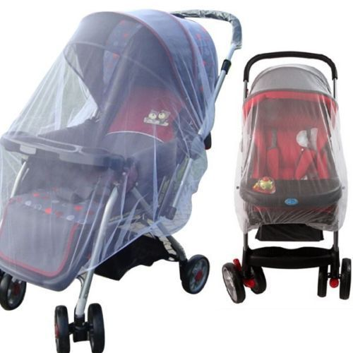 2019US Whtie Stroller Pushchair Mosquito Insect Net Mesh Buggy Cover for Baby Infant baby bed net in Mosquito Net from Home Garden