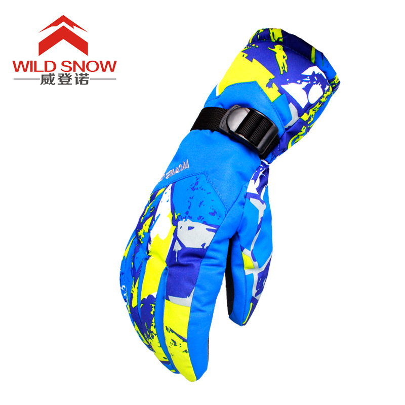 Wild Snow Skiing Gloves Adult Waterproof Windproof Full Finger Winter Gloves For Men&Women Outdoor Sports Snowboarding Cycling