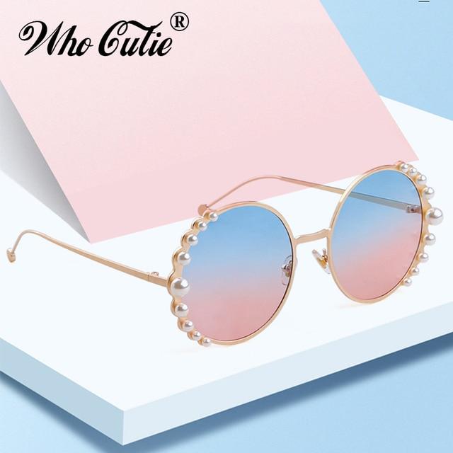 a6979d8f2a9 WHO CUTIE 2019 Vintage Round Rhinestone Sunglasses Women Brand Designer  Luxury High Quality Retro Fashion Sun Glasses Shades 799