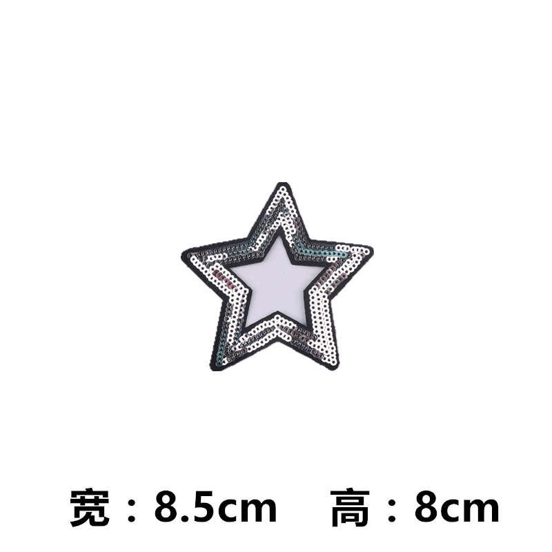 ... 16 Style Five-pointed Star Red Gold Sequin Patches for Clothing Iron on Clothes  Appliques ... f8e026ee5c5a